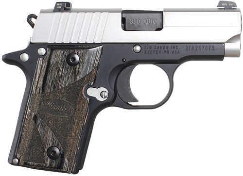 "Sig Sauer P238 380 ACP 2.72"" Barrel 6 Round Single Action Compact Duo Tone MA Legal Semi Automatic Pistol 238M-380-BG"