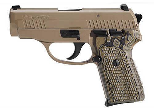 "Sig Sauer P239 Scorpion 9mm Luger 3.6"" Barrel 8 Round 2 Magazines Hogue Grips Flat Dark Earth Semi Automatic Pistol 239-9-SCPN"