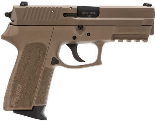 "Sig Sauer SP2022 9mm Luger 3.9"" Barrel 15 Round Flat Dark Earth Double/Single Action Night Sights Semi Automatic Pistol E20229Flat Dark Earth"