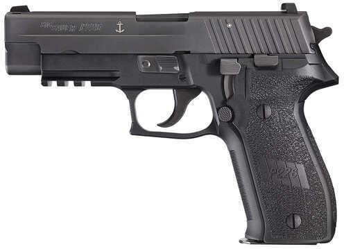 "Sig Sauer P226 9mm Luger 4.4"" Barrel 10 Round Anchor Engraving CA Legal Black Semi Automatic Pistol MK25CA"