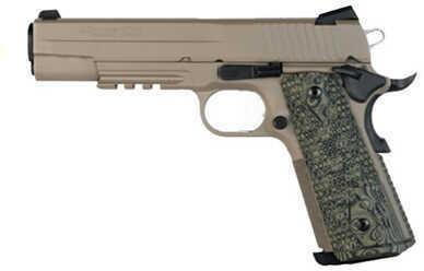 Sig Sauer 1911 45 ACP Scorpion Dark Earth Carry Ambidextrous Night Sights Polmer Grip Semi Automatic Pistol 1911CAR45SCPN