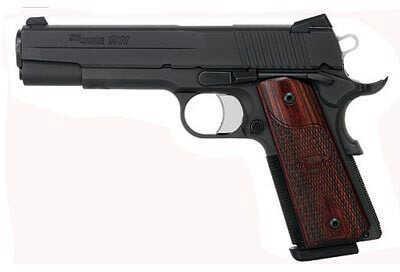 Sig Sauer 1911 45ACP Fastback Black Nitron Finish Rosewood Grip Semi Automatic Pistol 1911F45BSS