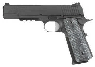 Sig Sauer 1911 45ACP Black Extreme Hogue G10 Grip Ambidextrous Low Profile Single Action Semi Automatic Pistol 1911R45XTMBLKGRY