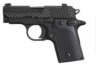 Sig Sauer P238 380 ACP Diamond Plate Black G10 Grip Semi Automatic Pistol 238380BDP
