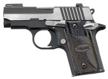 Sig Sauer P238 380 ACP Equinox 2 Tone Nitron Ambidextrous Safety Semi Automatic Pistol 238380EQAMBI