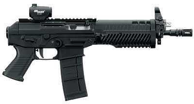 "Sig Sauer P5.56 223 Remington 10""Barrel 30 Round Semi Auto Pistol Mini Red Dot Scope P55610BSMR"