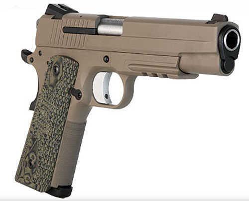 "Sig Sauer 1911 45ACP 5"" Barrel 8 Round Scorpion Traditional Cerakote Desert Tan Stainless Frame Semi Automatic Pistol 1911T45SCPN"