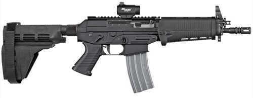 "Sig Sauer Semi Auto Pistol 223 Remington / 5.56 Nato 10"" Barrel A2 Flash Suppressor 10 Round SB15 Swiss Stock Stabilizing Brace P55610BSPSB"