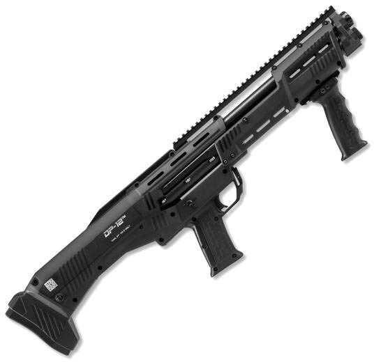Standard Manufacturing DP-12 Double Barrel Pump Repeater 12 Gauge Shotgun 16 Round Capacity Black DP12