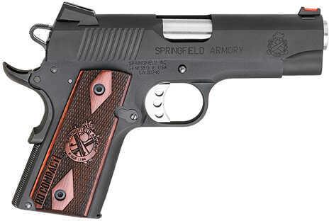 "Springfield Armory 1911 Range Officer Compact 45 ACP 4"" Barrel 6 Round Cocobolo Grip Black Semi Automatic Pistol PI9126LP"