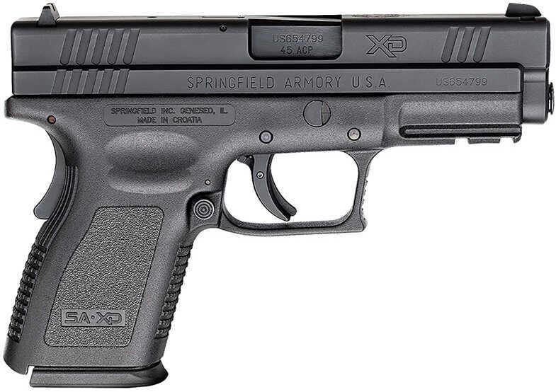 "Pistol Springfield Armory Springfield XD Essential DAO, Compact, 45 ACP, 4"" Barrel, 13 Rounds, 2 Magazines Black XD9645HC"