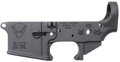 Rifle Spike's Tactical Honey Badger Semi-Automatic Lower 223 Rem 556NATO Black Honey Badger Logo STLS020