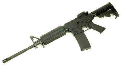 "Rifle Spike's Tactical Spikes Tactical ST-15 LE Carbine AR-15 Semi Auto Rifle .223 Rem/5.56mm NATO 16"" Barrel Black STR5025-M4S"