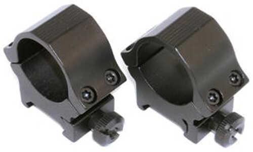Sun Optics Rings 30mm High Black 22 Caliber Matte SM766