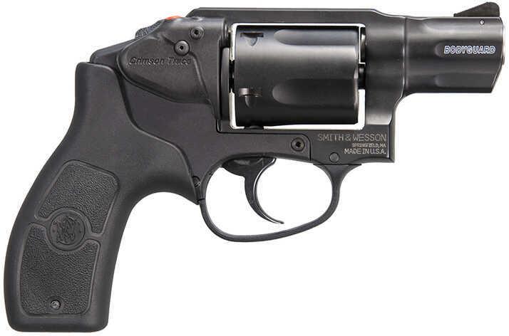 """Smith & Wesson M&P Bodyguard 38 Special 1.9"""" Barrel 5 Round Black  Crimson Trace  Laser *MA COMPLIANT*  Revolver 10138"""