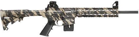 "Smith & Wesson M&P15-22 Ban State Compliant 22 Long Rifle 16.5"" Barrel 10 Round Fixed Stock Tan/ Black Camo Semi Automatic Rifle 811060"