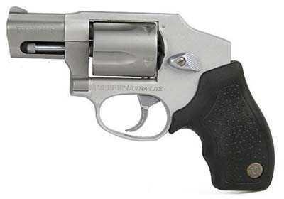 "Taurus 850 38 Special 2"" Matte Stainless Barrel 5 Round DA Only Ultra Lite CIA Hammerless Rubber Grip Revolver 2850129CIAUL"