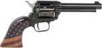 "Heritage Rough Rider Revolver 22LR 4.75"" Barrel 6 Round Golden Us Flag Finish    BrandHeritage Mfg  CategoryRimfire Revolvers  Caliber22 LR  ModelRough Rider  ActionSAO  Barrel Length Range4"" to..."