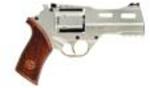 "Chiappa Rhino Single Action Revolver 357 Mag 4"" Barrel Alloy Frame Chrome Finish 6 Rounds    Specifications:    - Revolver  - Action: Single Action  - Caliber: 357 Magnum/38 Special  - Barrel Length: ..."
