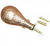 Texas Copper Powder Flask, 3 spout attachments: .58, .50, .44 Cals.