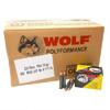 Wolf 22355CFMJ 223 Remington/5.56 Nato FMJ CP 55 Grain 500Caliber: 223 Remington/5.56 NatoBullet Type: Full Metal JacketBullet Weight: 55 GrMuzzle Energy: 1196 ft LbsMuzzle Velocity: 3130 FpsRounds: 5...