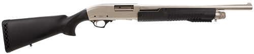 "TriStar Cobra Pump 12 Gauge 18.5"" Barrel 3"" Chamber 5 Round Nickel Black Synthetic Stock Finish Pump Action Shotgun 23118"