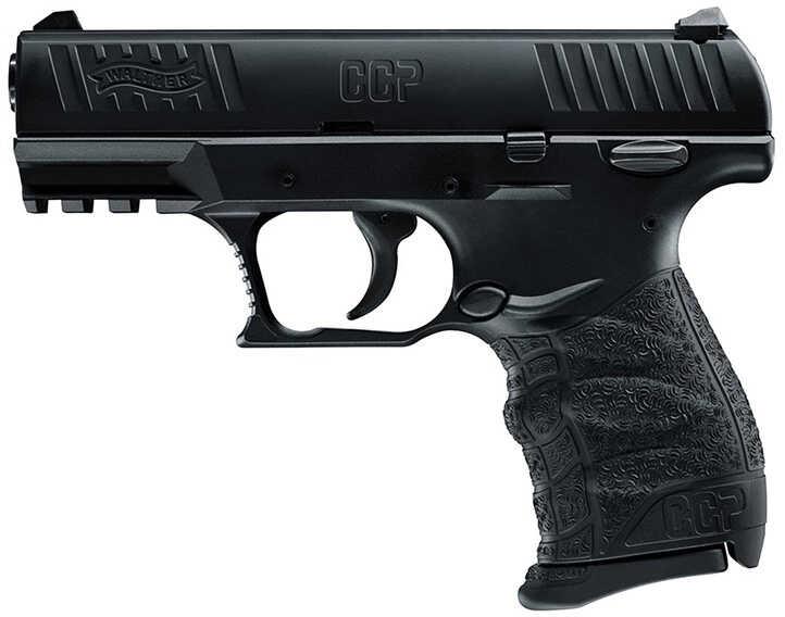 "Walther Concealed Carry Pistol 9mm Luger 3.54"" Barrel Black 8 Rounds 5080300"