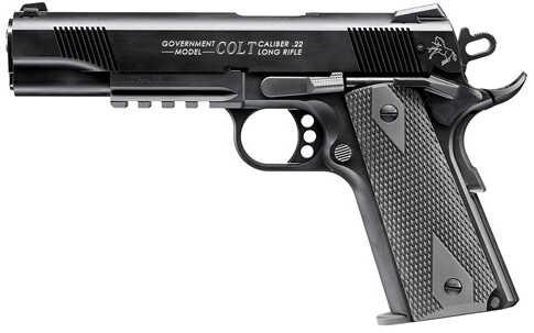 "Walther Colt 1911 Government Tribute 22 Long Rifle 5"" Barrel 10 Round Black Semi Automatic Pistol 517030810"