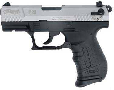 "Walther P22 Pistol 22 Long Rifle 10 Round SA/DA 3.4"" Barrel Black Synthetic Grip Semi Automatic Pistol QAP22004"