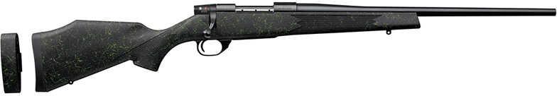 """Weatherby Vanguard 2 Volt Bolt 22-250 Remington Bolt Action Rifle 20""""Blued Contoured Hammer Forged Barrel 5+1 Rounds Black/Green Spiderweb Stock VLT222RR0O"""