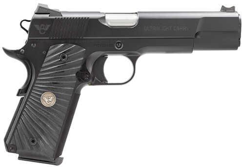 "Wilson Combat UL Carry 45ACP 5"" Fluted Barrel 8+1 Rounds G-10 Starburst Grip Black Finish Semi Automatic Pistol ULCFS45"